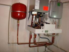 Montáž kondenzačního kotle RD hanychov 003
